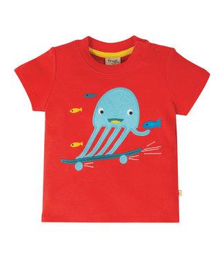 Frugi Kleinkinder T-Shirt Tintenfisch