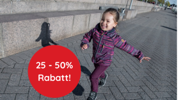 25 - 50% Rabatt auf alle Kinder Softshelljacke