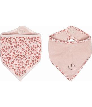 Zewi bébé-jou Bandana 2 Stk. pink Leopard
