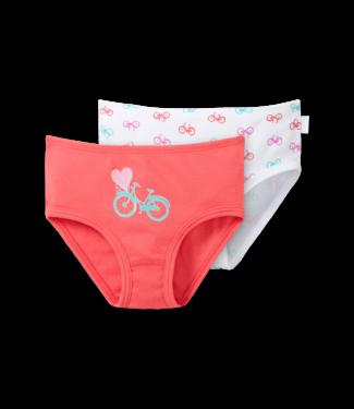 Schiesser Mädchen Hüftslip 2er-Pack Fahrräder