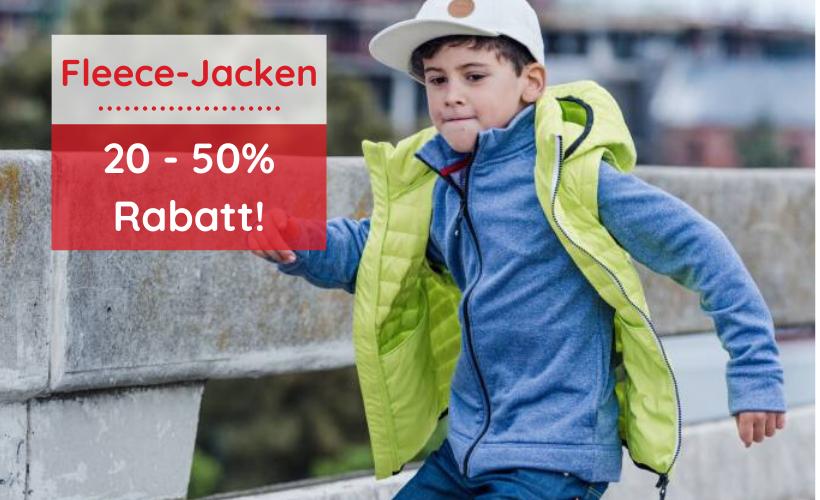 Auf alle Fleece-Jacken 20 - 50% Rabatt!