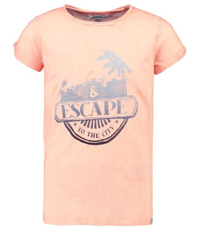 Garcia Mädchen T-Shirt Mit Aufdruck orange