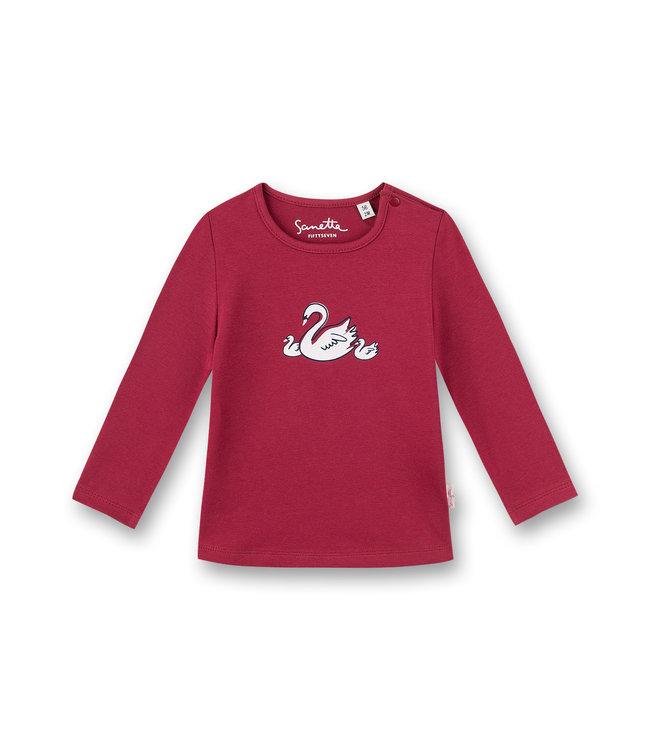 Sanetta Fiftyseven Baby Mädchen-Shirt langarm Schwan