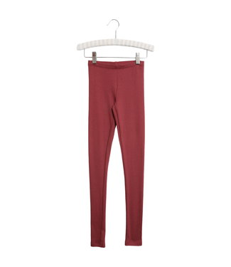 Wheat Mädchen Rib Leggings burgundy