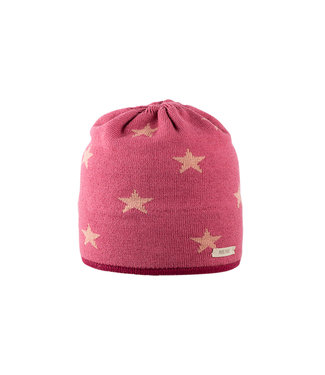 Pure Pure Kindermütze Sterne violett fuchsia