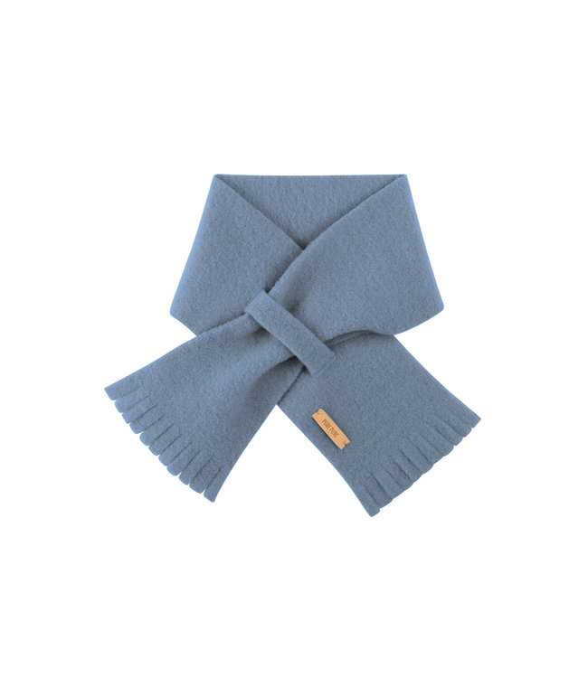 Pure Pure Baby Fleece Schal dusty blue