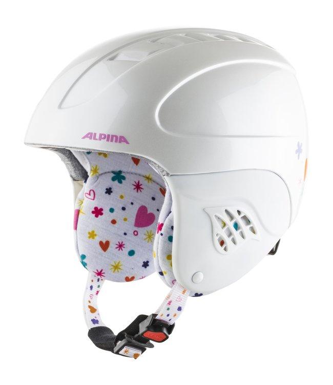 Alpina Kinder Skihelm CARAT white deco