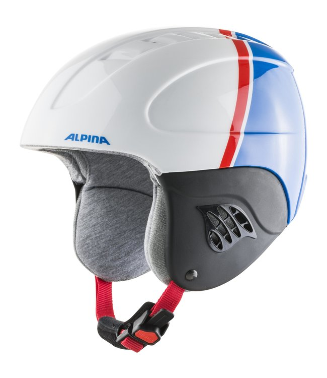 Alpina Kinder Skihelm CARAT white-red-blue