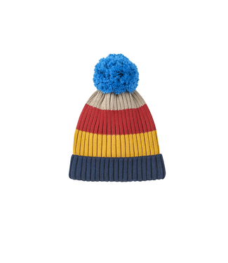 Finkid POMPULA Kinder Strickmütze navy/red