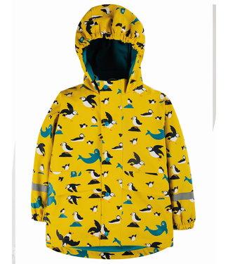 Frugi Kinder Regenjacke Puddle Buster Sunflower