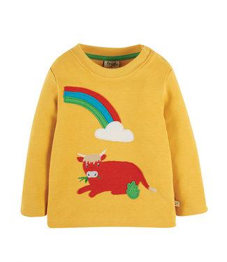 Frugi Kleinkinder Shirt Regenbogen Kuh