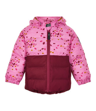 Color Kids Kleinkinder Winterjacke Dot beet red
