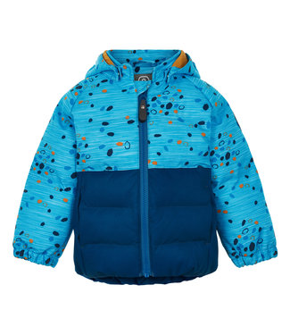 Color Kids Kleinkinder Winterjacke Dot blue saphire