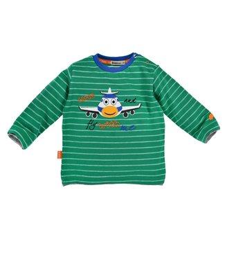Bondi Kleinkinder langarm Shirt geringelt ´Flugzeug´