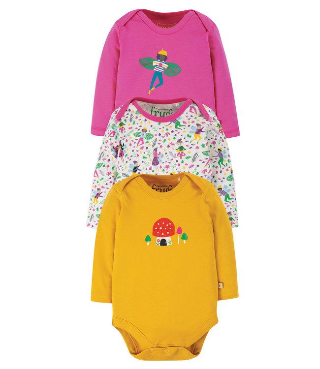 Frugi Baby Body 3er Pack Fairy