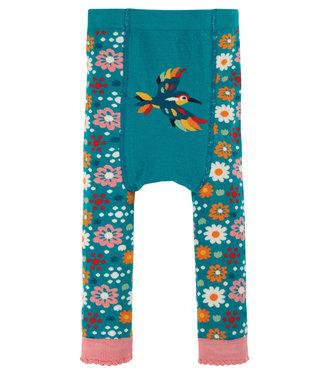 Frugi Kleinkinder Leggings Blue/Flowers