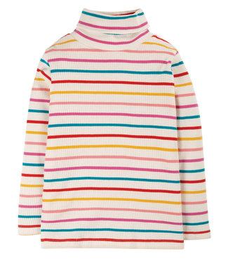 Frugi Mädchen Pullover Ava Stripe Roll Neck