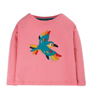 Frugi Mädchen Shirt Bethany Guava Pink/Bird