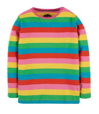 Frugi Kleinkinder Shirt Favourite Rainbow Stripe