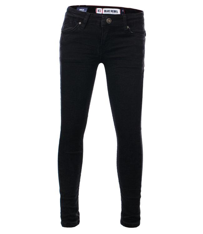 Blue Rebel Mädchen Jeans Gold black wash