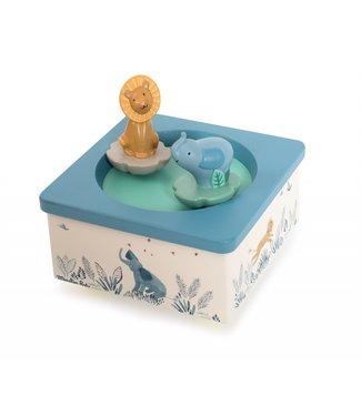 Moulin Roty Spieluhr Elefant und Löwe