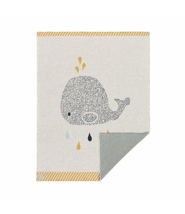 Lässig Baby Strickdecke Little Water Wal