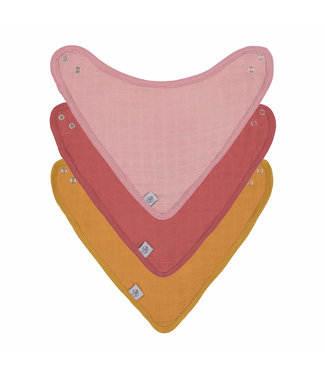 Lässig Baby Bandana Dreieckstuch 3er Pack rose
