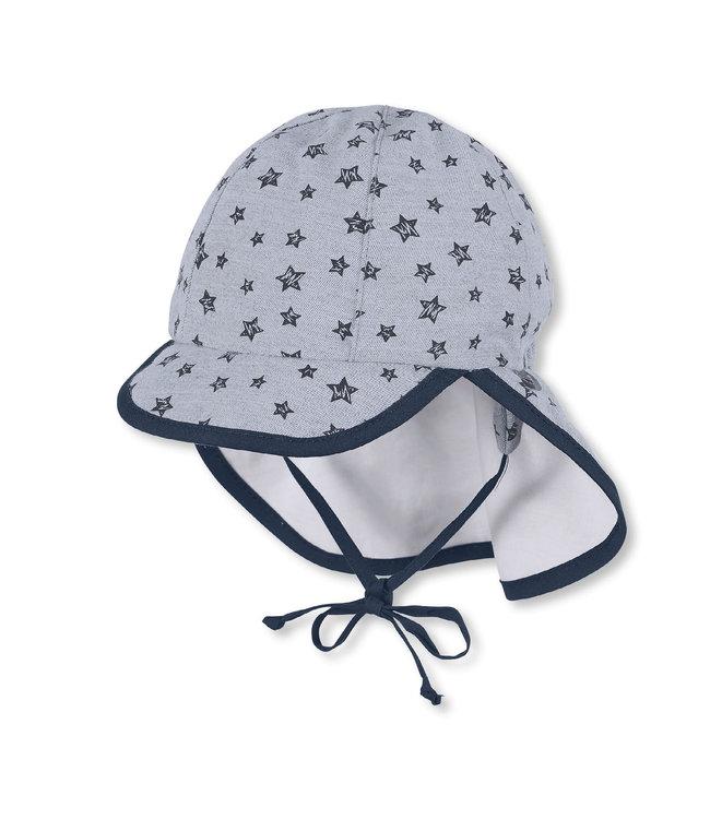 Sterntaler Jungen Schirmmütze mit Nackenschutz Sterne