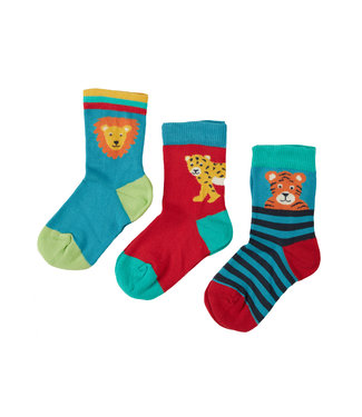 Frugi Kleinkinder Socken 3er Pack Big Cats