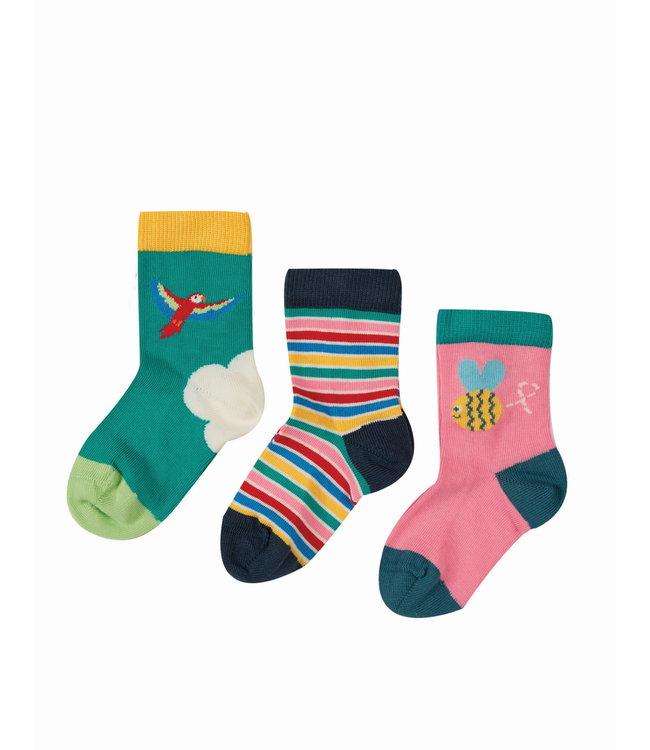 Frugi Kleinkinder Socken 3er Pack Biene