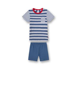 Sanetta Jungen-Schlafanzug kurz Blau Ringel