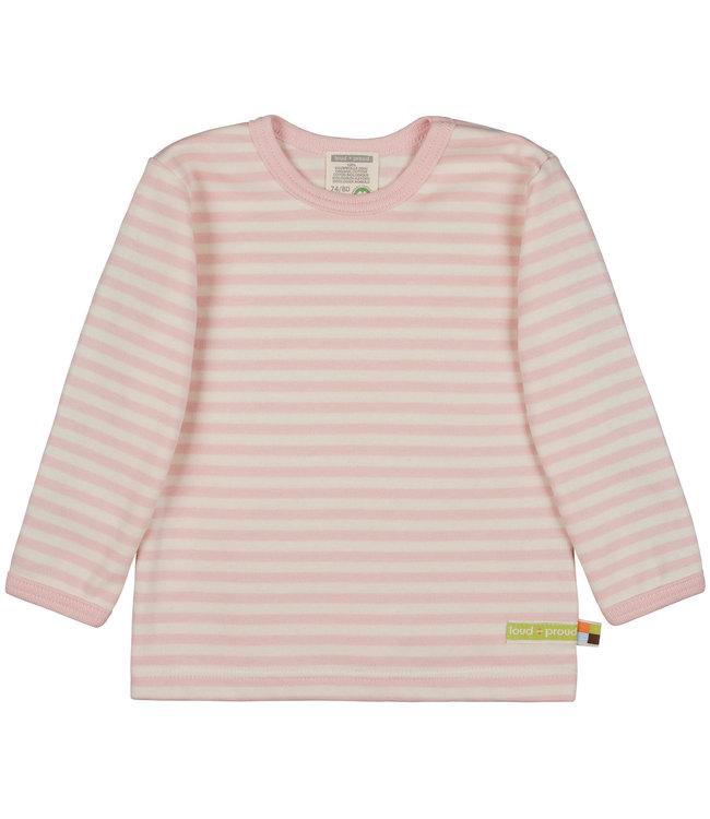 Loud and Proud Shirt Langarm Streifen Rosé