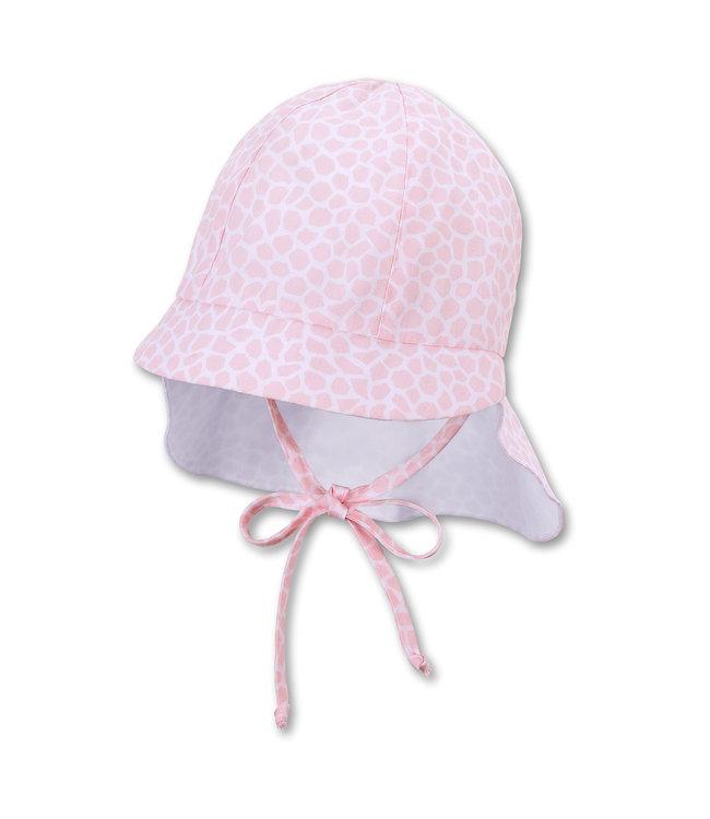 Sterntaler Mädchen Schirmmütze mit Nackenschutz rosa