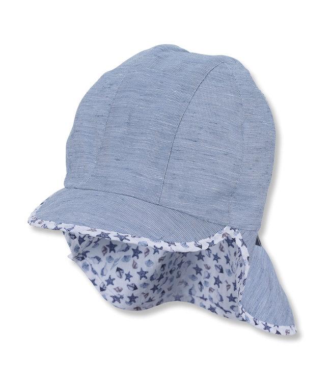 Sterntaler Jungen Schirmmütze mit Nackenschutz blau