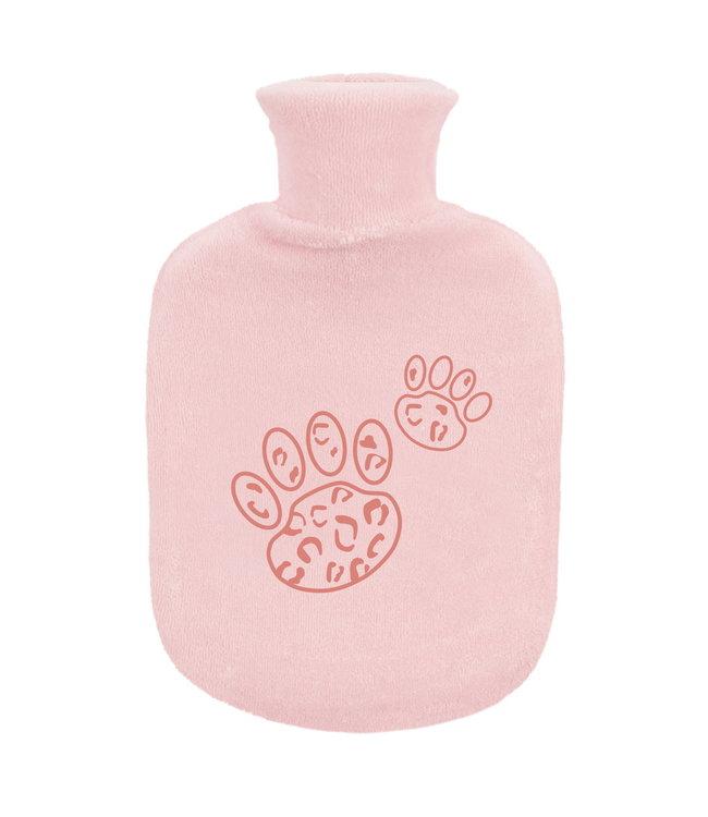 Zewi bébé-jou Gummibettflasche mit Frottébezug Pink Leopard