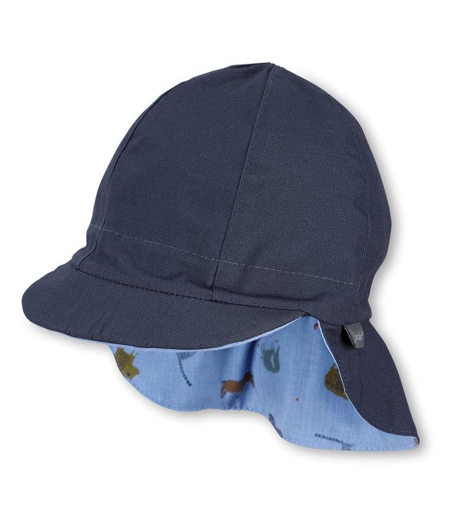 Sterntaler Jungen Wende-Schirmmütze mit Nackenschutz blau