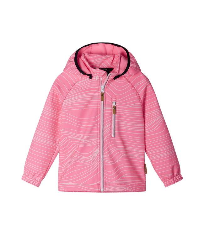 Reima Kinder Softshell Jacke Vantti Neon pink