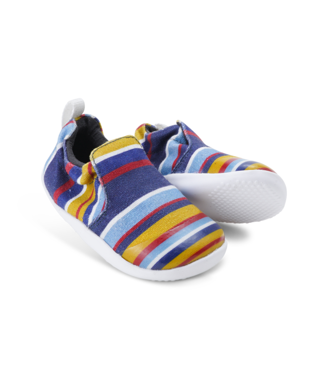 Bobux Babyschuh Scamp navy stripe