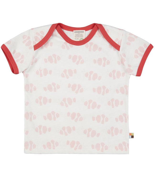 Loud and Proud T-Shirt Druck Fisch rose