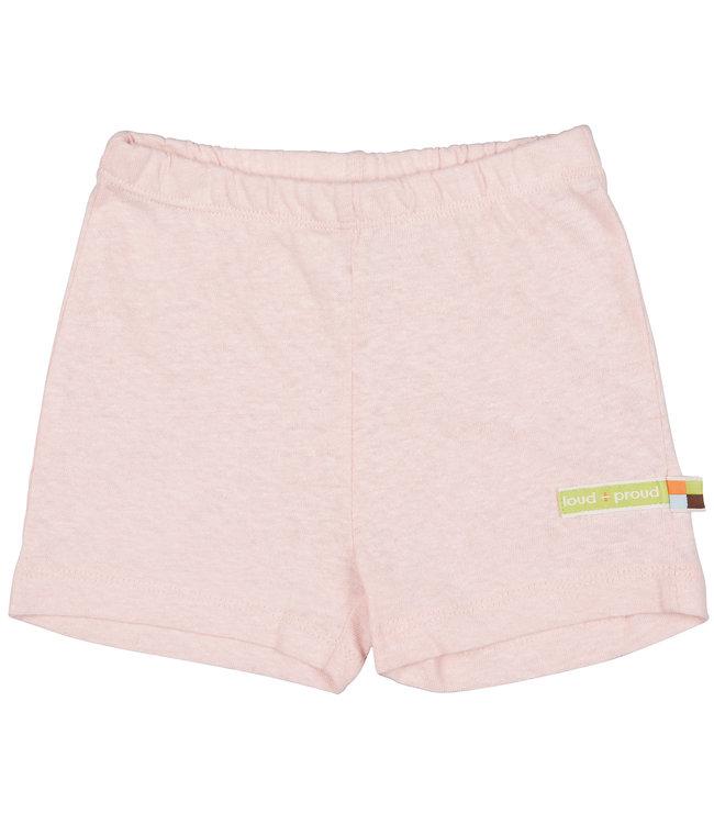 Loud and Proud Kinder Shorts uni mit Leinen rosé
