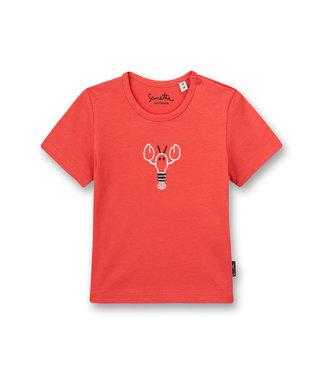 Sanetta Fiftyseven Baby Jungen T-Shirt Rot Little Lobster