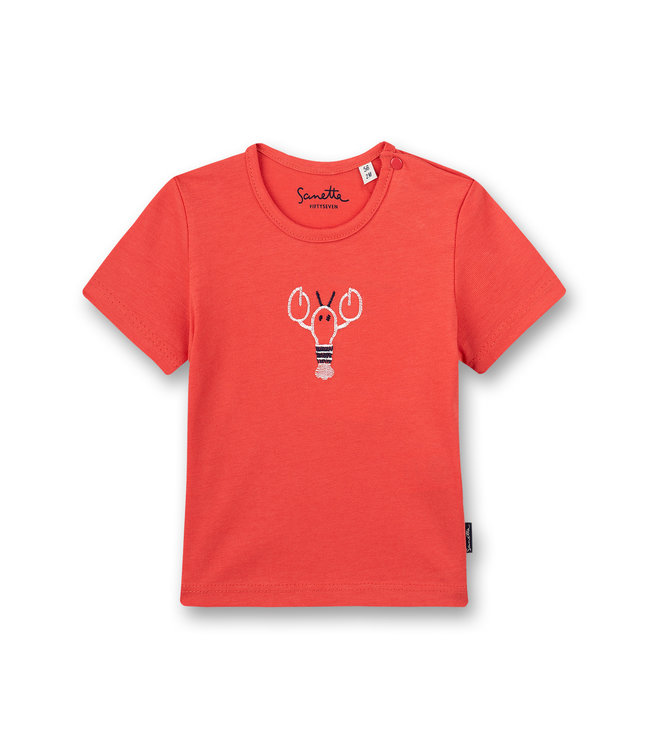 Sanetta Fiftyseven Baby Jungen T-Shirt Rot Little Lobster