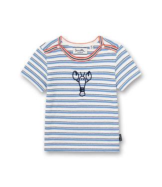 Sanetta Fiftyseven Baby Jungen T-Shirt Off-White Ringel Little Lobster