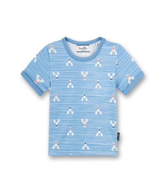 Sanetta Fiftyseven Baby Jungen T-Shirt Little Lobster Allover