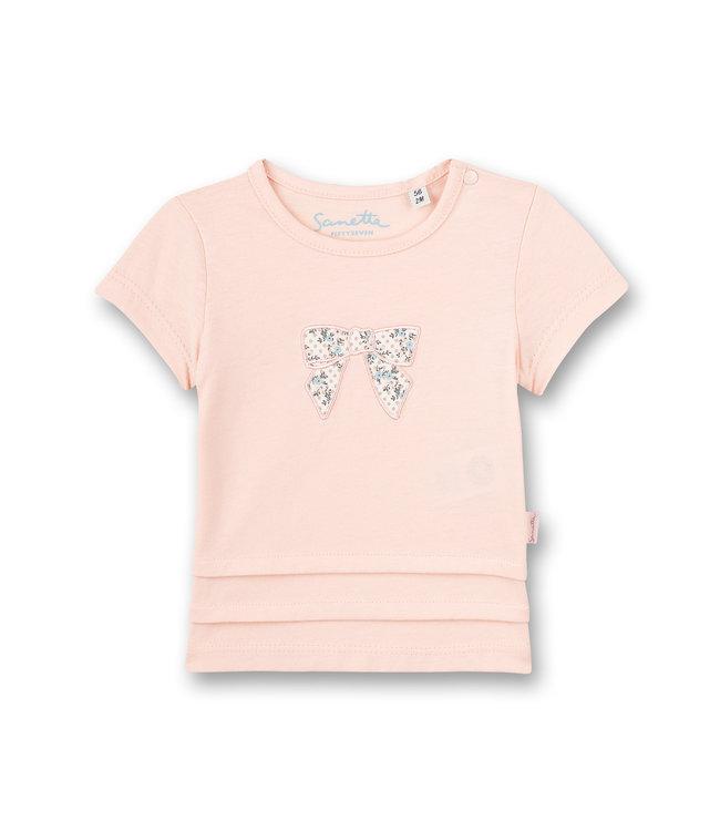 Sanetta Fiftyseven Baby Mädchen T-Shirt Fluffy Duckling rosa