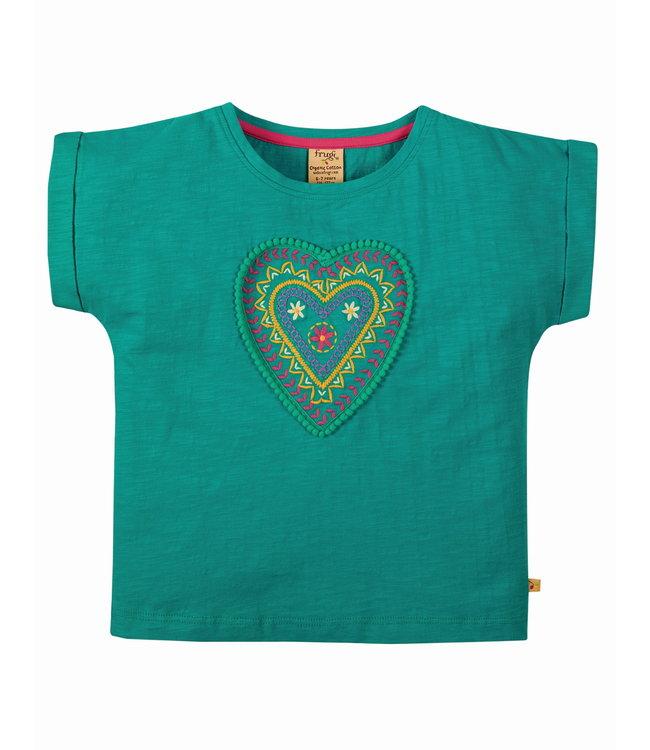 Frugi Mädchen T-Shirt Sophie Herz