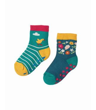 Frugi Kleinkinder Socken 2er Grippy Ente