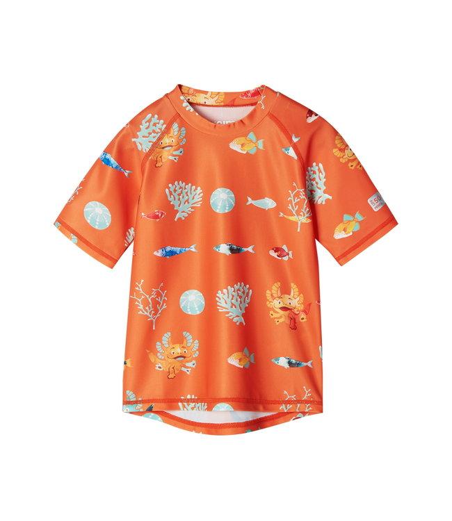 Reima Kleinkinder UV T-shirt Pulikoi orange