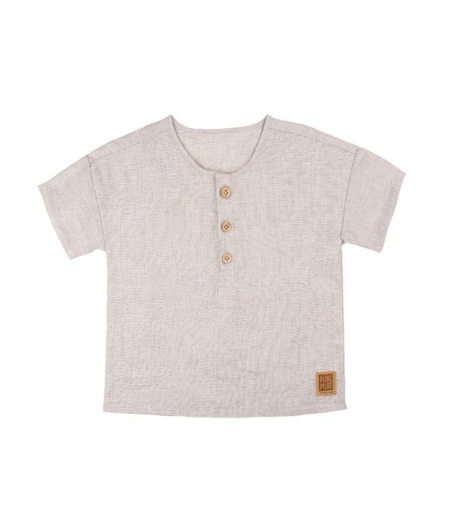 Pure Pure Kinder Leinen T-Shirt sand