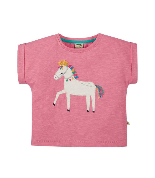 Frugi Mädchen T-Shirt Sophie Pferd